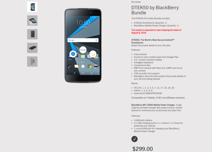 blackberry android dtek50