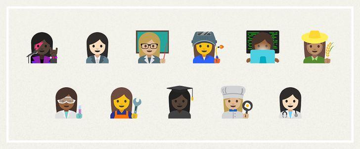 Dozens of new and old emoji embrace gender equality