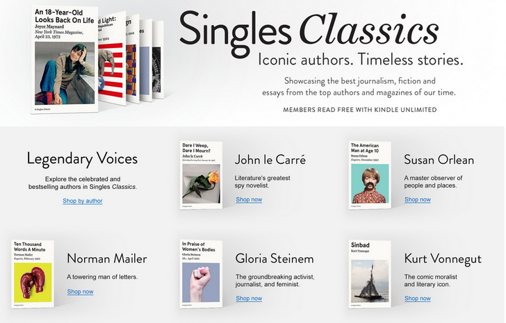 New Kindle Singles Classics provide timeless articles