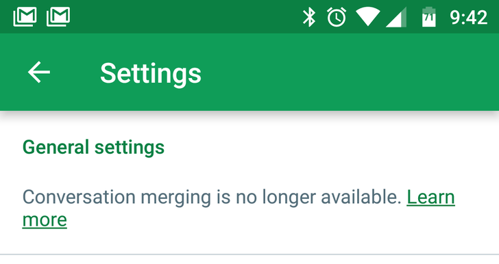 Hangouts 11 does away with merged conversations