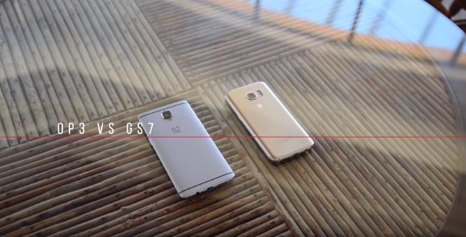 Video: Galaxy S7 versus OnePlus 3