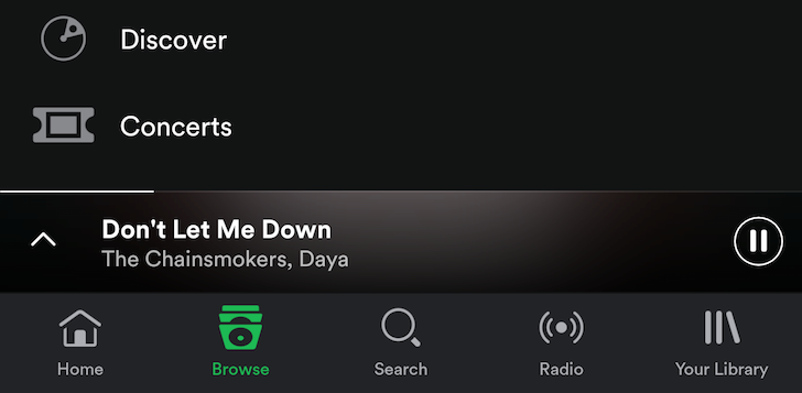 Spotify beta switches the slide-out navigation drawer to a bottom bar