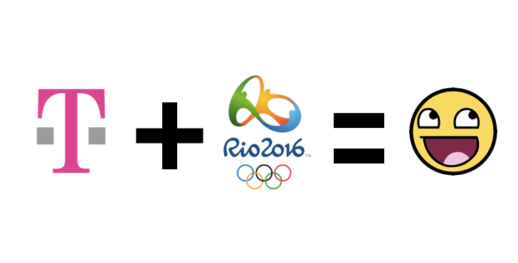 T-Mobile will provide free, high-speed, unlimited 4G LTE to their customers for Rio 2016