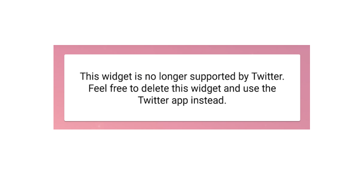[Update: Gone from the beta too] Twitter removes its homescreen widget support from the latest alpha
