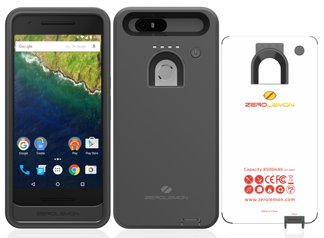 [Update: Now available] ZeroLemon's 8500mAh battery case for the Nexus 6P will be available later this month for $60