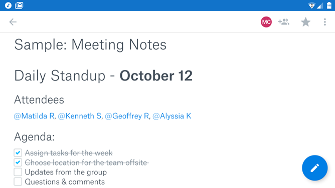 Dropbox gives Evernote some competition with Paper, now in beta on the Play Store