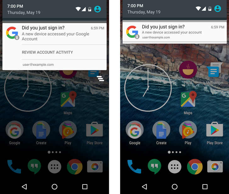 Google will start pushing Android notifications when new devices are added to your account