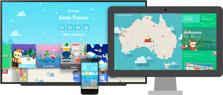 Google open sources the 2016 Santa Tracker Web and Android apps