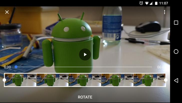 Rotating video in Google Photos returns after long hiatus