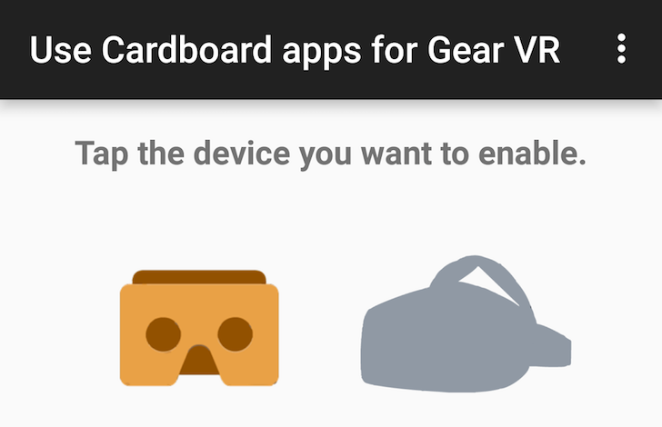 This new $1 app lets you use Cardboard apps on the Samsung Gear VR, no root required