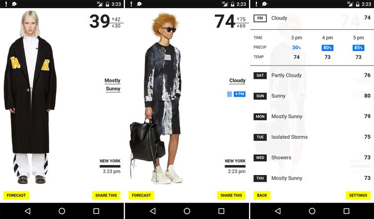 [100% Chance of Pants] New weather app matches questionable fashion with current conditions
