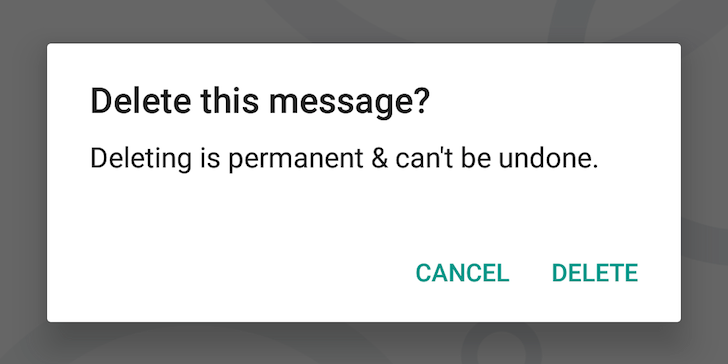 Unlike Hangouts, Allo lets you delete messages from your