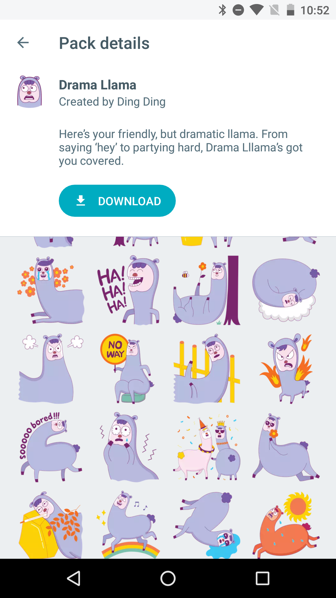 google-allo-sticker-packs-drama-llama