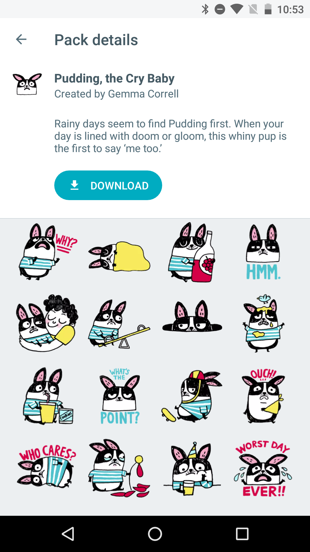google-allo-sticker-packs-pudding-crybaby