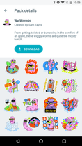 google-allo-sticker-packs-we-wormin
