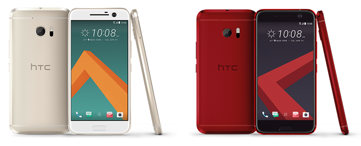 HTC 10 in Camellia Red and Topaz Gold colors finally available in the U.S.