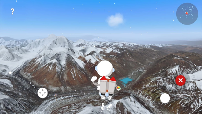 Google employs a cartoon yeti as a virtual tour guide in Verne: The Himalayas