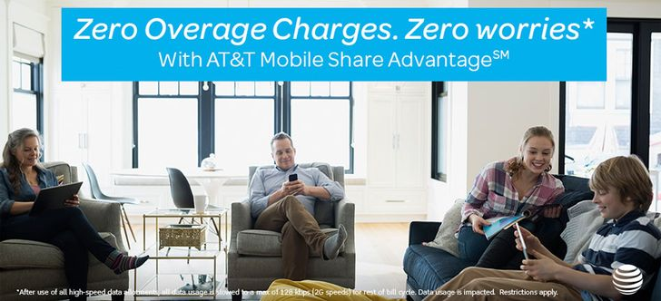 AT&T's new Mobile Share Advantage plans lower data cost, add unlimited throttled data