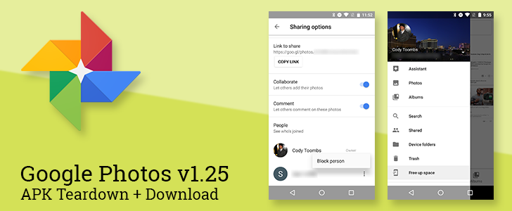Google Photos v1.25 allows album owners to block access to individuals and promises to add video stabilization [APK Teardown + Download]