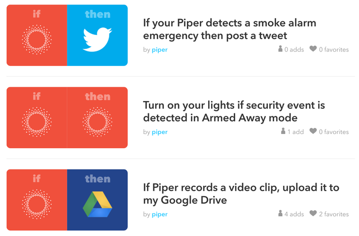 Piper security cam lets you upload recorded videos to Dropbox and Drive for free (plus more IFTTT improvements)