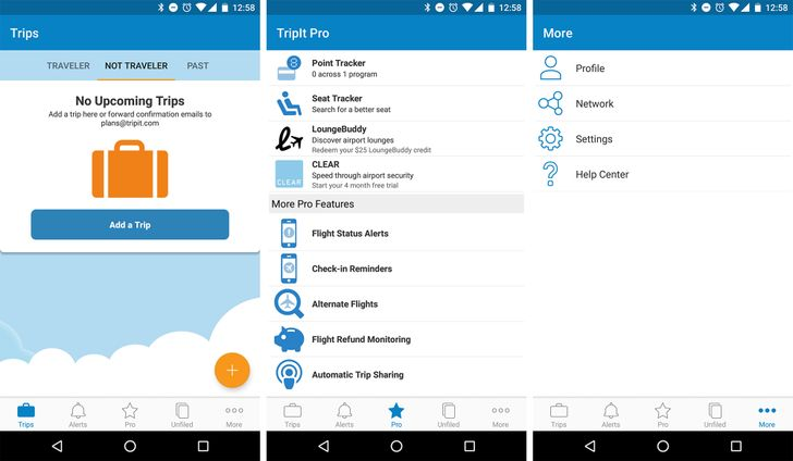 TripIt v5.0 update adds unnecessary bottom nav bar, timeline-based itinerary, and more