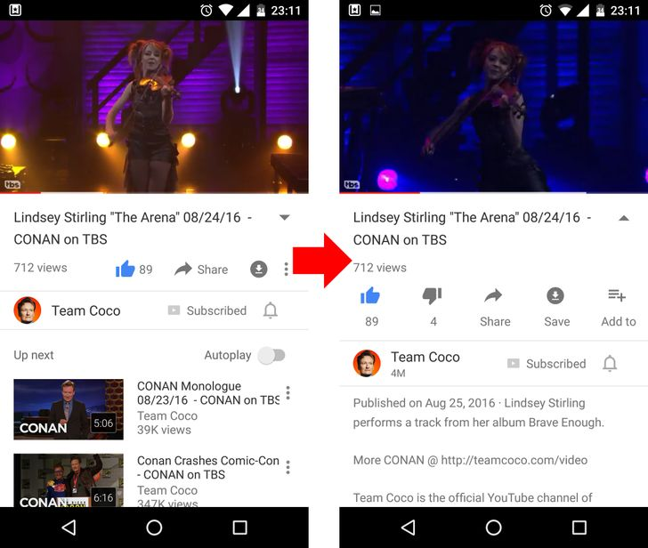 YouTube is getting a new UI and animation for video description and actions [Update]