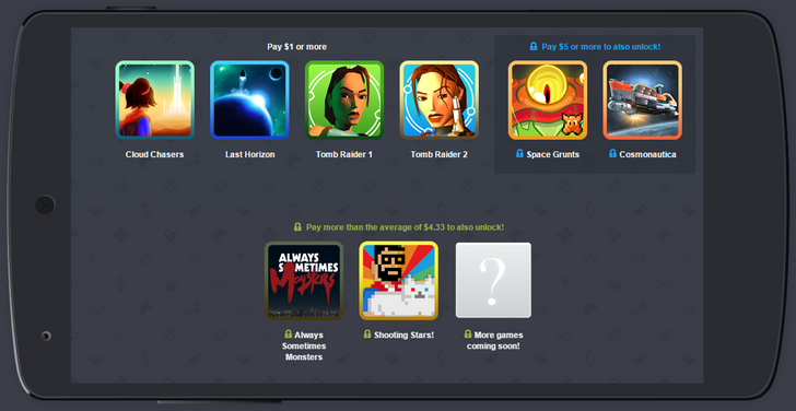 Humble Mobile Bundle 20 includes Last Horizon, Tomb Raider 1 and 2, Shooting Stars, and more