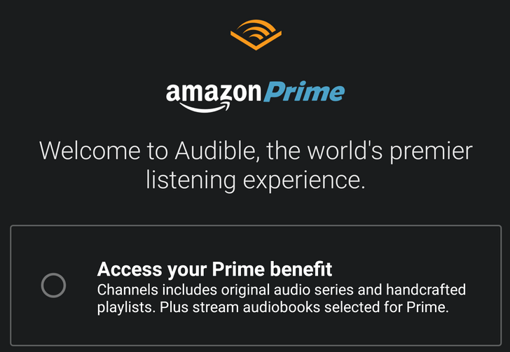 Audible offers free Channels and audiobooks to Amazon Prime members