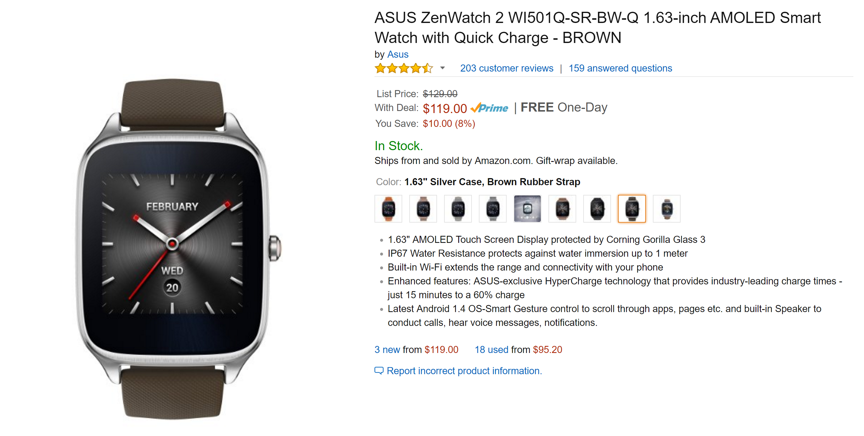 """[Deal Alert] Get an ASUS ZenWatch 2 1.63"""" with HyperCharge ..."""