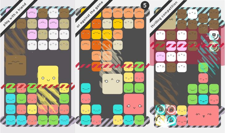 Bit Bit Blocks is a fast-paced puzzle game with support for two players on one device