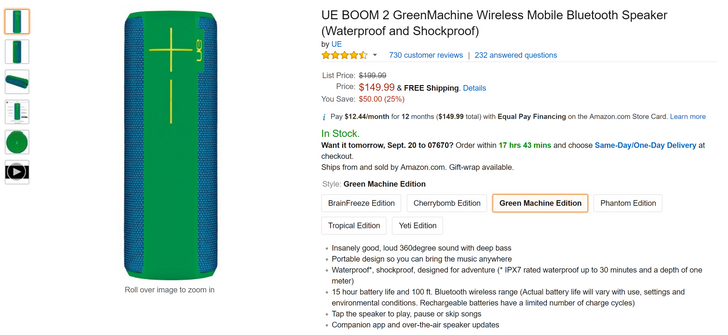 [Deal Alert] Get a Logitech UE Boom 2 in any color for just $149.99 on Amazon ($50 off)
