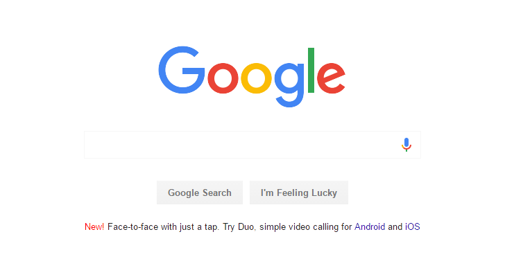 [Not Allo] Google starts advertising Duo on the Google.com homepage