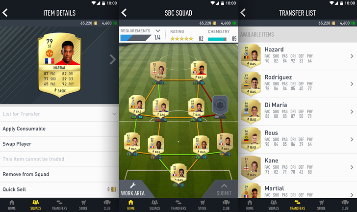 FIFA 17 companion app lands in the Play Store for Ultimate Team trading on the go