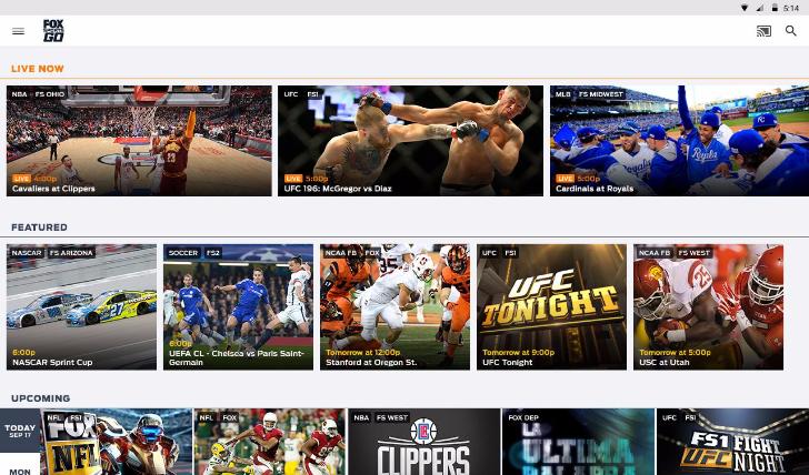 FOX Sports GO adds Chromecast streaming and now works on Roku