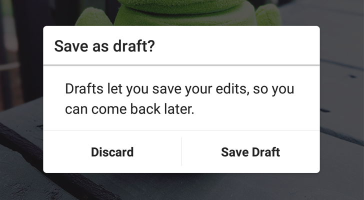 Instagram 9.4 adds the ability to save posts as drafts for all users [APK Download]