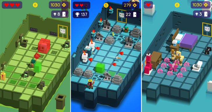 Find endless randomly generated loot in Looty Dungeon, from the publisher of Crossy Road