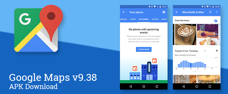 Google Maps v9.38 adds a dedicated album for food photos and an upcoming events tab for your places [APK Download]