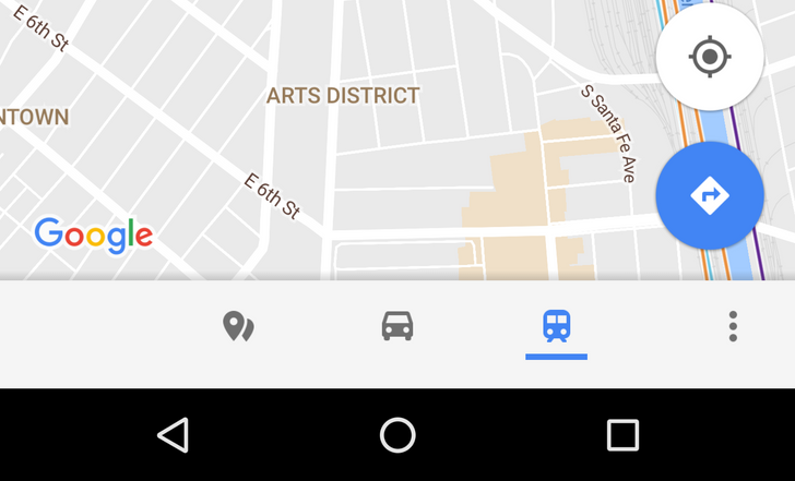 Google Maps makes the bottom bar for exploring places, real-time traffic, and transit info official