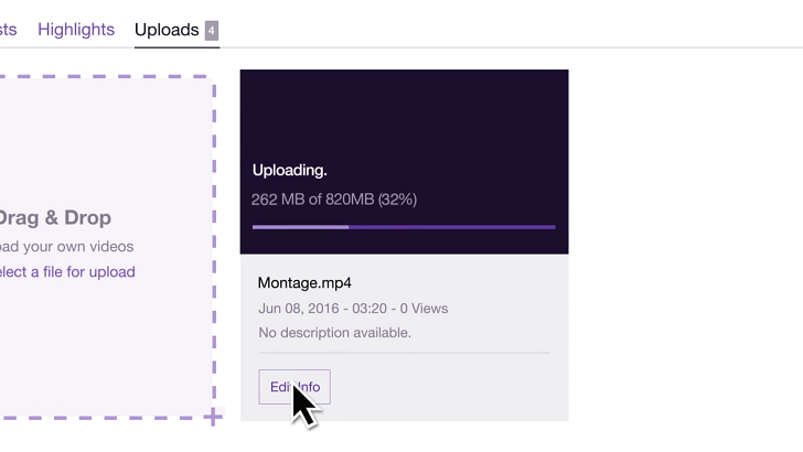 [RIP YouTube Gaming] Twitch now supports video uploading through Uploads Open Beta