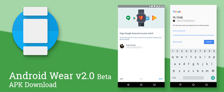 Android Wear app v2.0 beta for developer preview 3 adds a Google account manager and removed some outdated settings [APK Download]
