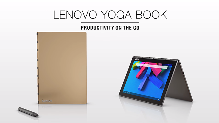 Lenovo announces the Yoga Book, a convertible tablet with a touch keyboard and digitizer