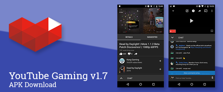 YouTube Gaming v1.7 rolls out with improvements to chat and Android Nougat support, new easter egg [APK Download]