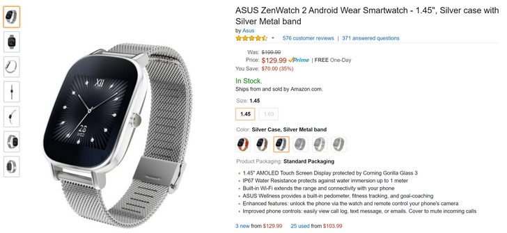 [Deal Alert] Get an ASUS ZenWatch 2 with a metal band for just $129.99 at Amazon ($70 off)