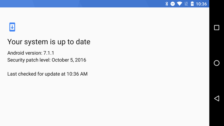 Android 7.1 feature spotlight: The new system update check denies you cathartic button mashing
