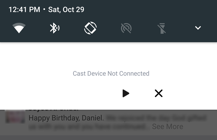That annoying Chromecast notification is coming from the Facebook app - here's how to fix it