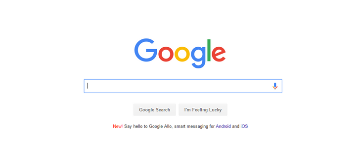 Google is advertising Allo on its homepage