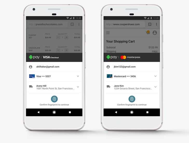 Android Pay is getting support for Visa Checkout and MasterPass, Samsung Pay gets MasterPass