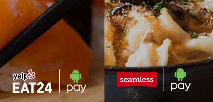 [Deal Alert] Save money on Seamless and Eat24 orders through Android Pay this month (US only)