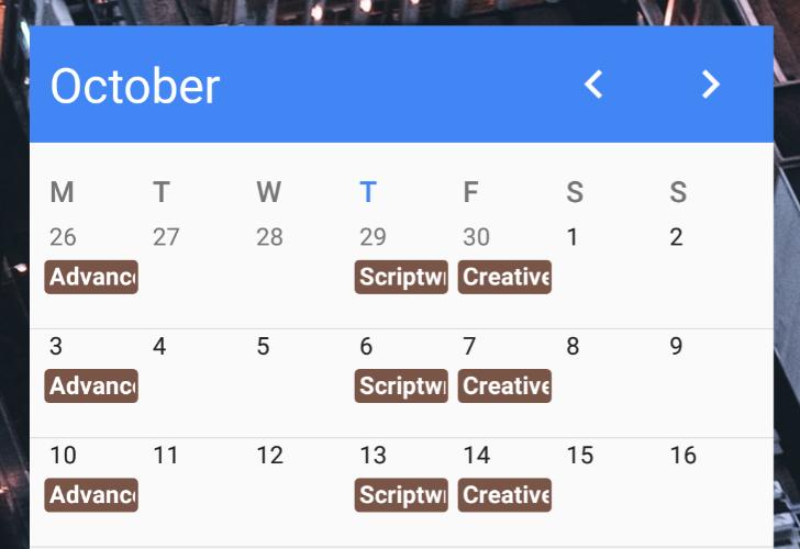 Calendar 5.6.2 update adds a month widget to accompany the previously lone agenda widget [Update]