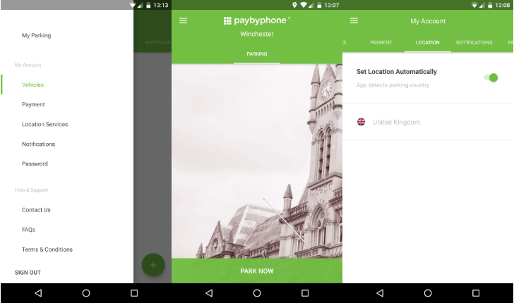 PayByPhone's app enters the 21st century with a big modern redesign and Android Pay support